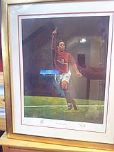 Signed and Framed Ruud Van Nistelrooy print