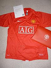 Signed Manchester United Shirt, by Carlos Teves