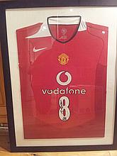 Signed & Framed Manchester United Football Shirt by Wayne Rooney