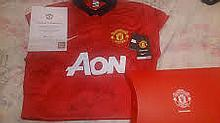 Signed Manchester United Shirt, Patrice Evra