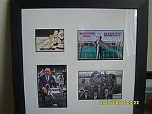 Framed and Signed Manchester United Display of Sir Matt Busby.