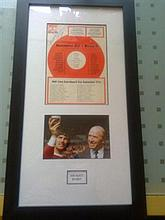 Matt Busby Signed Football Picture display.