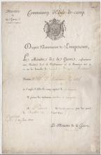 (Histoire) - Henri Guillaume CLARKE (1765-1818) - Brevet de commission d'aide de camp du général de brigade