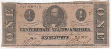 1862 $1 Confederate States of America Note
