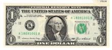 RARE 1985 $1 Federal Reserve Note ERROR Miscut