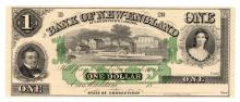 1800's $1 Bank of New England Godspeed's Landing Note