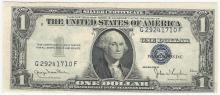 1935D $1 Silver Certificate Note Misaligned Shift ERROR