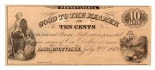RARE 1862 Ten Cents Lawrenceville Pennsylvania Obsolete Note