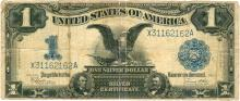 1899 $1 Black Eagle Silver Certificate US Currency Bank Note