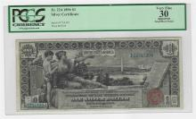 1896 $1 Silver Certificate Educational Note PCGS Graded VF 30