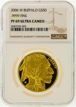 2006-W $50 Buffalo Gold Coin NGC Graded PF69 Ultra Cameo
