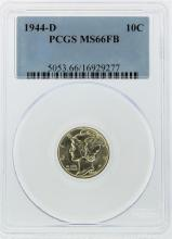 1944-D Mercury Dime PCGS Graded MS66FB