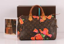 Authentic Louis Vuitton Limited Edition Stephen Sprouse Roses Speedy 30 Bag