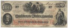 1862 $100 The Confederate States of America Note