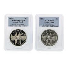 2004-P $1 Silver Lewis & Clark PCGS Graded Coin Set