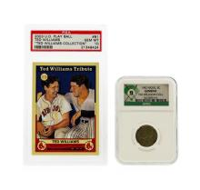 1942 Nickel NGC with PSA Card from the Ted Williams Collection