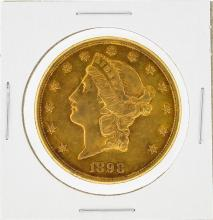 1898-S $20 Liberty Head Double Eagle Gold Coin AU