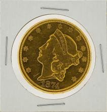 1874-CC $20 Liberty Head Double Eagle Gold Coin AU Details