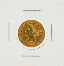 1886-S $5 Liberty Head Gold Coin