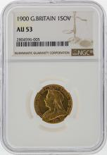 1900 1 Sovereign Great Britain Gold Coin NGC AU53