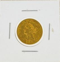 1851 No Motto $5 Liberty Head Gold Coin
