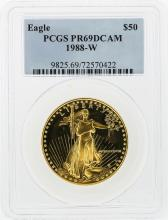 1988-W $50 American Gold Eagle Coin PCGS Graded PR69DCAM