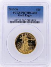 2013-W $25 American Gold Eagle Coin PCGS Graded PR70DCAM