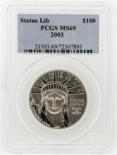 2002 $100 Platinum American Eagle Coin MS69