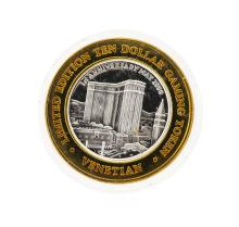 .999 Silver The Venetian Las Vegas, Nevada $10 Casino Gaming Token Limited Editi