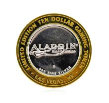 .999 Silver Aladin Las Vegas, Nevada $10 Casino Gaming Token Limited Edition