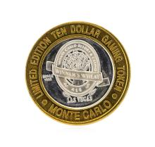 .999 Silver Monte Carlo Las Vegas, Nevada $10 Casino Gaming Token Limited Editio