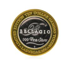 .999 Silver Bellagio Las Vegas, Nevada $10 Casino Gaming Token Limited Edition