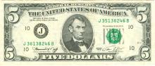 1974 $5 FRN Note ERROR Mismatched Serial Number