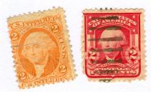 George Washington Postage Stamps Lot of 2