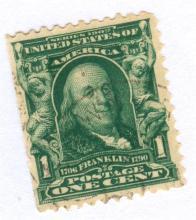 United States Benjamin Franklin Postage Stamp