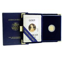 1990 1/10 oz $5 Gold American Eagle Proof Coin