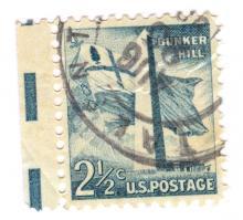 United States Bunker Hill Postage Stamp