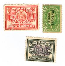 New York Stock Transfer Stamps Lot of 3