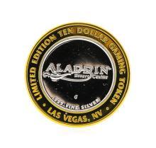 .999 Silver Aladin Las Vegas, Nevada $10 Casino Gaming Token Limited Edition