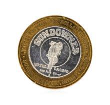 .999 Silver Sundowner Hotel Casino Reno, NV $10 Casino Gaming Token Limited Edit