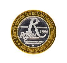 .999 Silver Riviera Hotel & Casino Las Vegas, NV $10 Casino Token Limited Editio