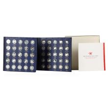 Franklin Mint Sterling Silver 'The States of the Union' Commemorative Medals Set