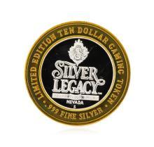 .999 Silver Silver Legacy Reno, Nevada $10 Casino Gaming Token Limited Edition