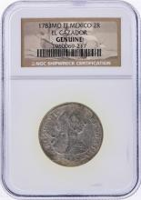 1783MO FF Mexico 2R El Cazador Shipwreck Coin NGC Genuine