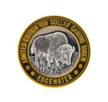 .999 Silver Edgewater Hotel & Casino Laughlin, NV $10 Casino Token Limited Editi