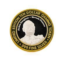 .999 Silver El Cortez Las Vegas, Nevada $10 Casino Gaming Token Limited Edition