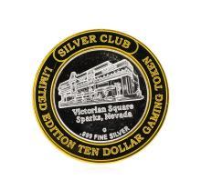 .999 Silver Silver Club Victoria Square Sparks, NV $10 Casino Token Limited Edit