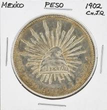 1902 Cn.J.Q MO Mexico Peso Silver Coin