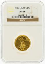 1987 $10 American Gold Eagle Coin NGC MS69
