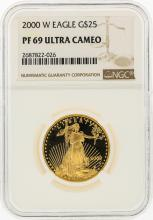 2000-W $25 American Gold Eagle Coin NGC PF69 Ultra Cameo